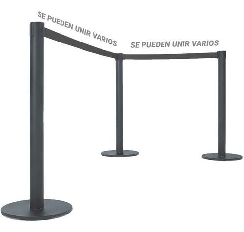 poste metalico con cinta separador filas colas organizador