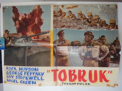 poster 1967 tobruk rock hudson guy stockwell george peppard