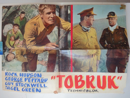 poster 1967 tobruk rock hudson guy stockwell george peppard