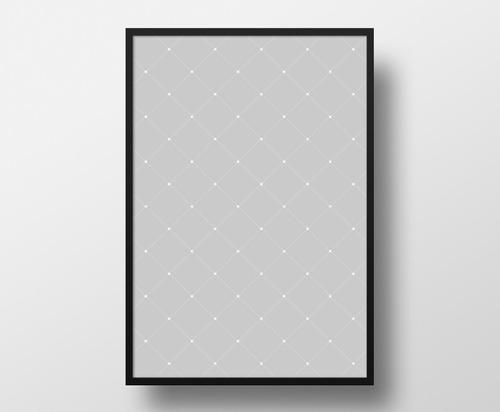 poster 23x33cm com moldura pôster quadro a4 - minimalista