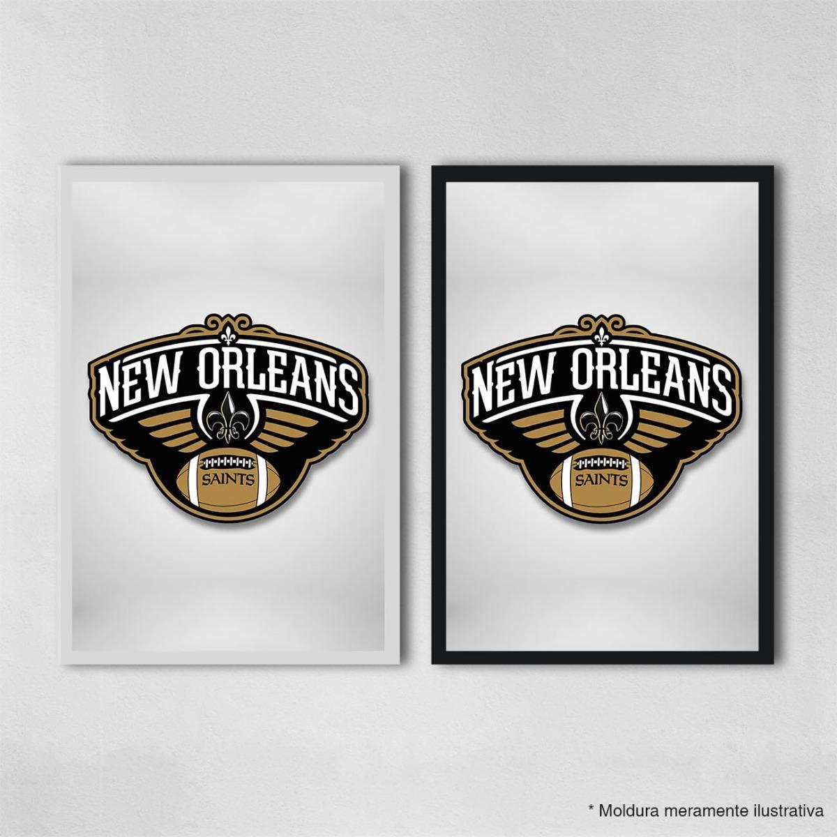 19586c771 poster 40x60cm futebol americano nfl new orleans saints 43. Carregando zoom.
