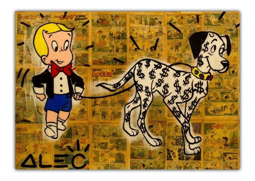 poster 60cmx85cm arte urbana alec monopoly #4 decorar sala