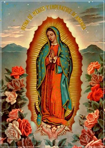 poster  60x84cm decoração mexicana nossa sra. guadalupe