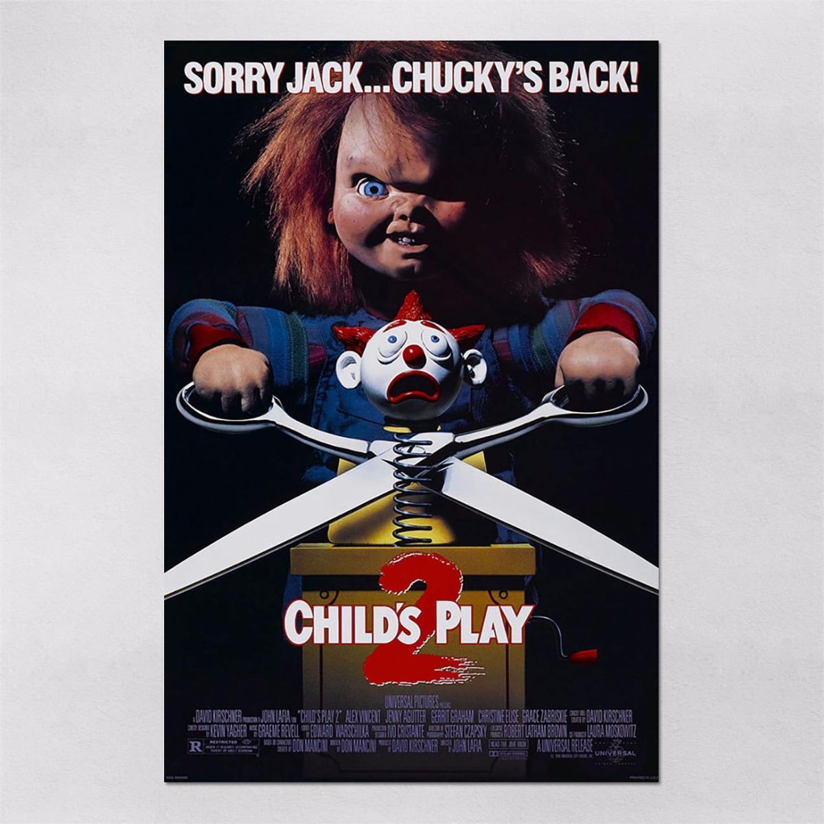 Jack Boneco Assassino Classy poster 60x90cm filme terror chucky boneco assassino 3 - r$ 77,95