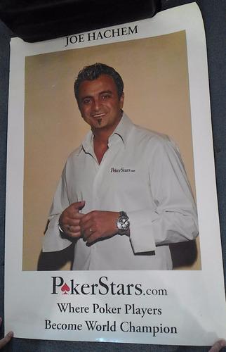 poster 88x60 cartaz joe hachem pokerstars tv poker player