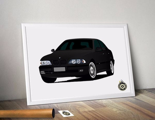 poster a3 automotivo bmw 540 e39 petrolhead studio