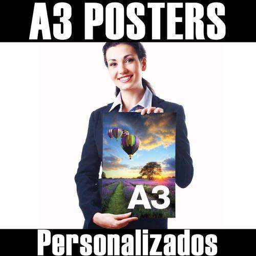 poster adesivo 29x42cm a3 personalizado qualquer imagem