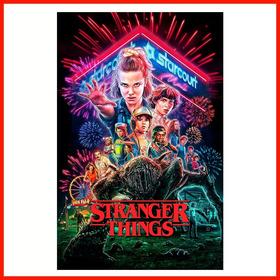 Poster Adherible Hd Stranger Things #7 48x31cm