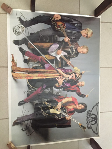 poster aerosmith impecable espectacular inconseguible