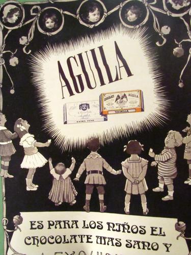 poster afiche  chocolate aguila publicitario antiguo