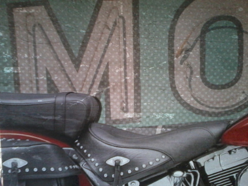 poster afiche cuadro moto - tela plastificada - buen estado