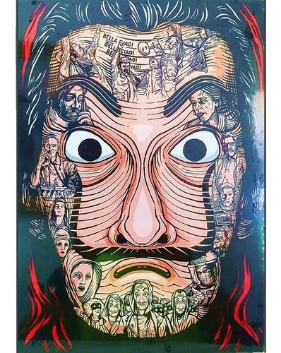 poster afiche de la casa de papel serie netflix nuevo 6 vds