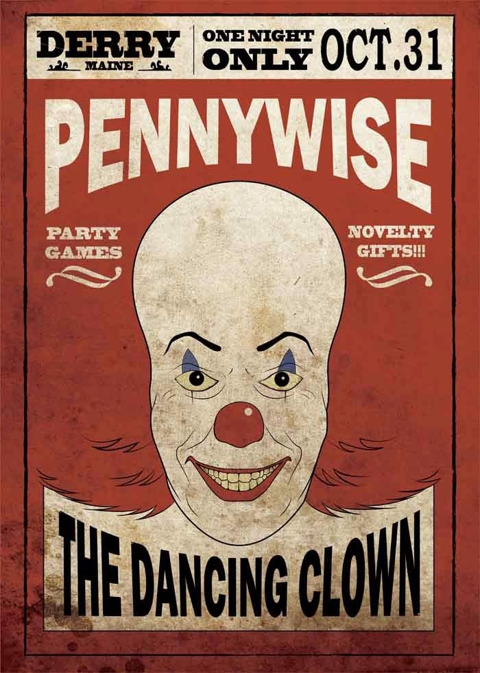 Poster Afiches Peliculas It (eso) Pennywise Arte - S/ 35 ...