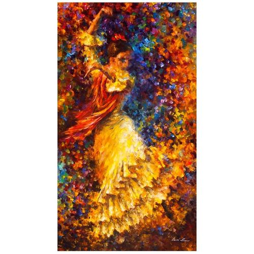 poster afremov 55x100cm  flamenco & fire para decorar sala