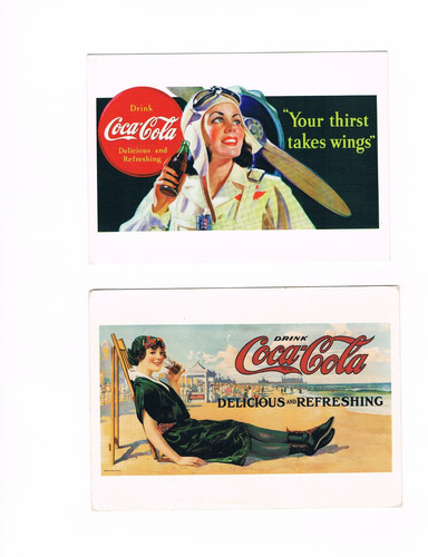 poster antiguo coca cola tamaño hoja a3 29.7 cm x 42 cm