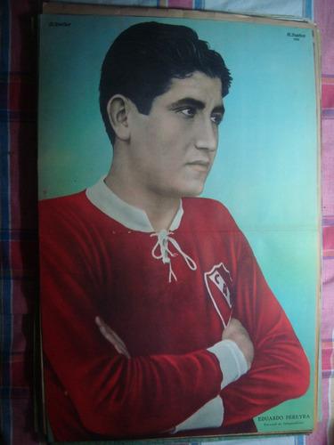 póster antiguo eduardo pereyra independiente el grafico 1935