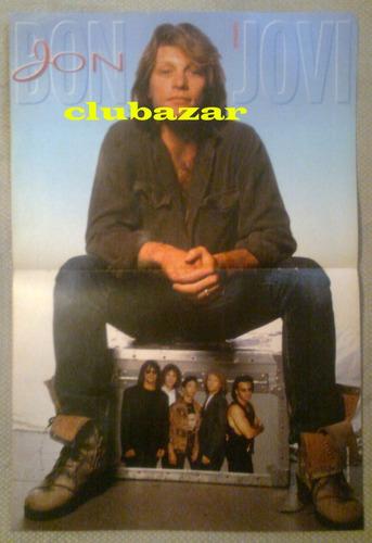 poster antiguo jon bon jovi de revista bravo  41 cm x 28 cm