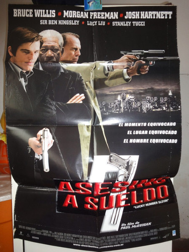 poster asesino a sueldo bruce willis morgan freeman josh