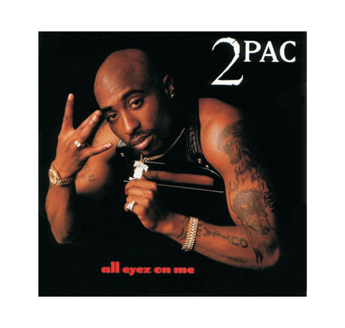 poster auto colante - 2pac all eyes on me ( 70cm x 66cm )