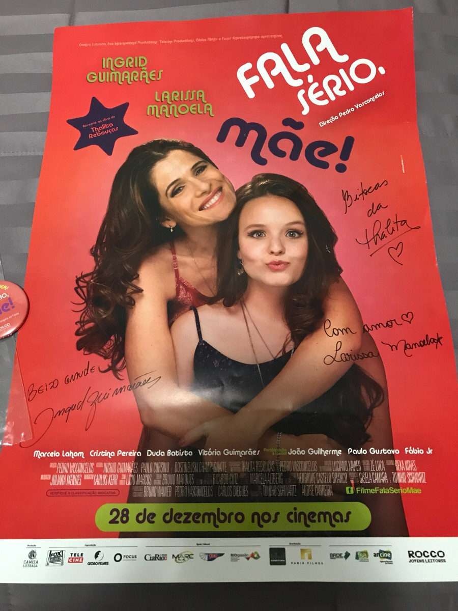 5c909aa18015f poster autografado larissa manoela - filme fala sério mãe! Carregando zoom.