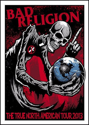 poster bad religion 60cmx84cm rock banda para decorar sala