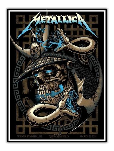 poster banda metallica rock 60x80cm show viena -- áustria