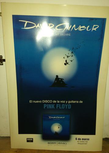 poster banner promocional original david gilmour pink floyd
