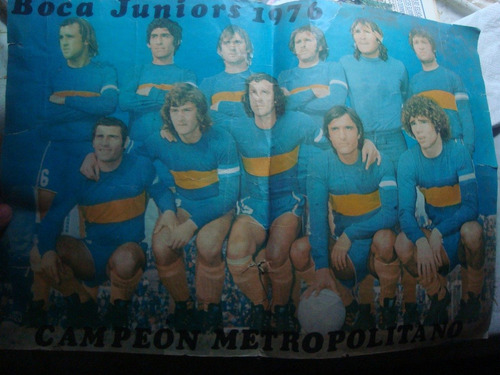 poster boca 1976 campeon metropolitano 49 x 31 cm.