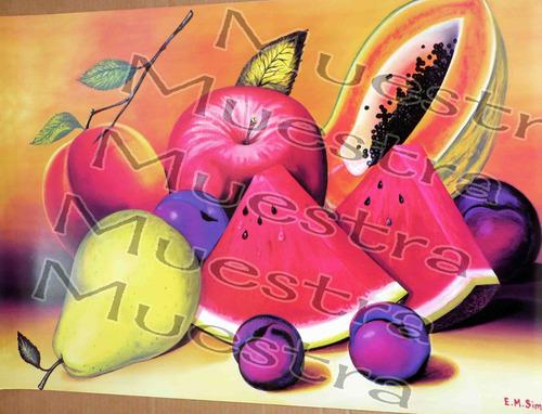 poster bodegones frutas 56 x 86 cm
