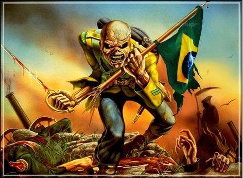 poster brasil copa 2018 grande 60x80cm rock decorar pub