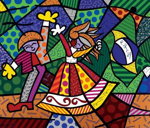 poster britto 60x70cm obra cores do brasil para decorar sala
