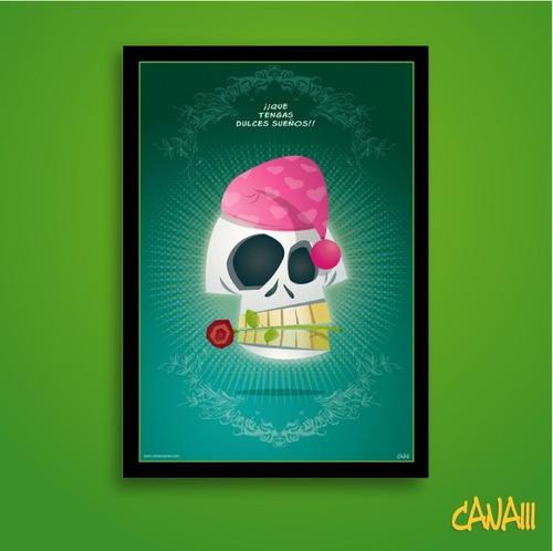 póster calavera dulces sueños por canam