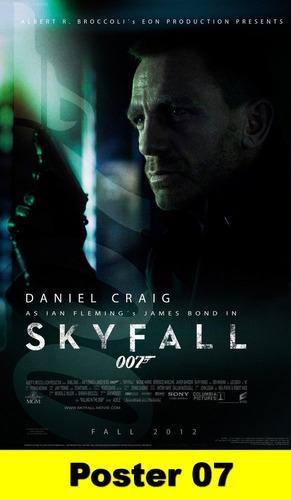 poster cartaz 007 operação skyfall 30x40 #007