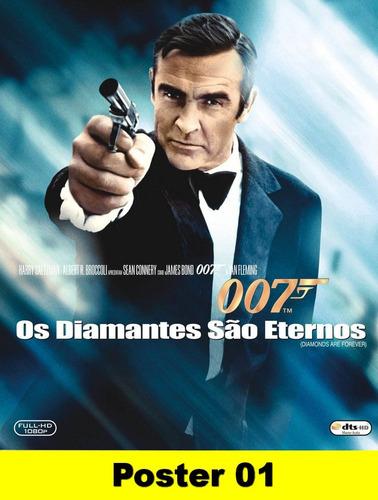 poster cartaz 007 os diamantes são eternos 30x40 #001
