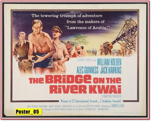 poster cartaz  30x40 - a ponte do rio kwai (1957