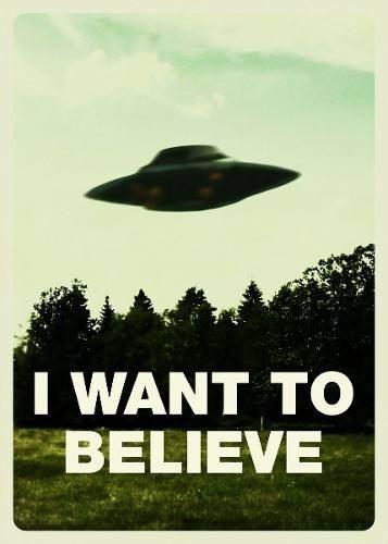 poster cartaz arquivo x i want to believe #1 - 30x42cm