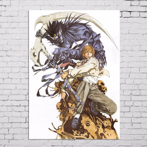 poster cartaz death note caderno da morte a3