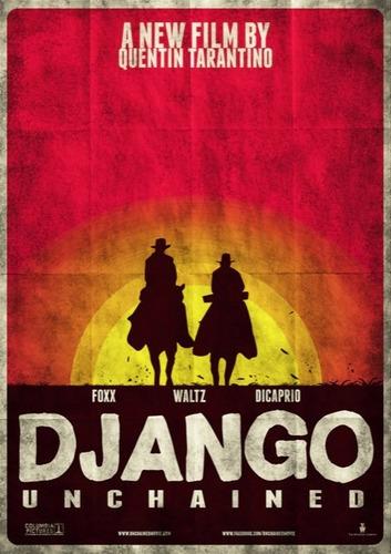 poster  cartaz django - livre #e - 40x60cm