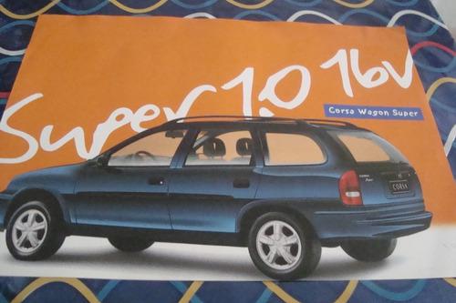 poster cartaz foto catalogo chevrolet corsa wagon super 1999