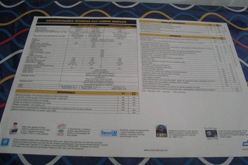 poster cartaz foto catalogo chevrolet s 10 cabine simples
