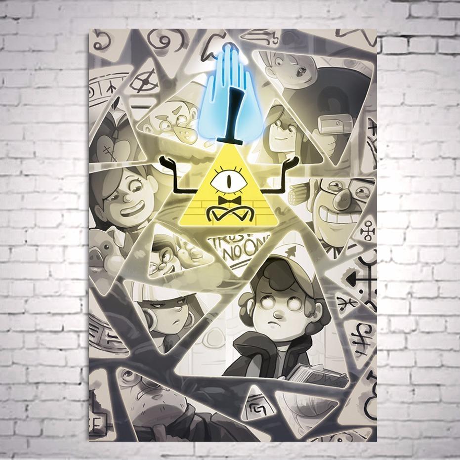 Poster Cartaz Gravity Falls Bill Cipher A3 Carregando Zoom
