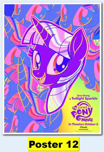 poster cartaz my little pony - o filme 30x40 #012