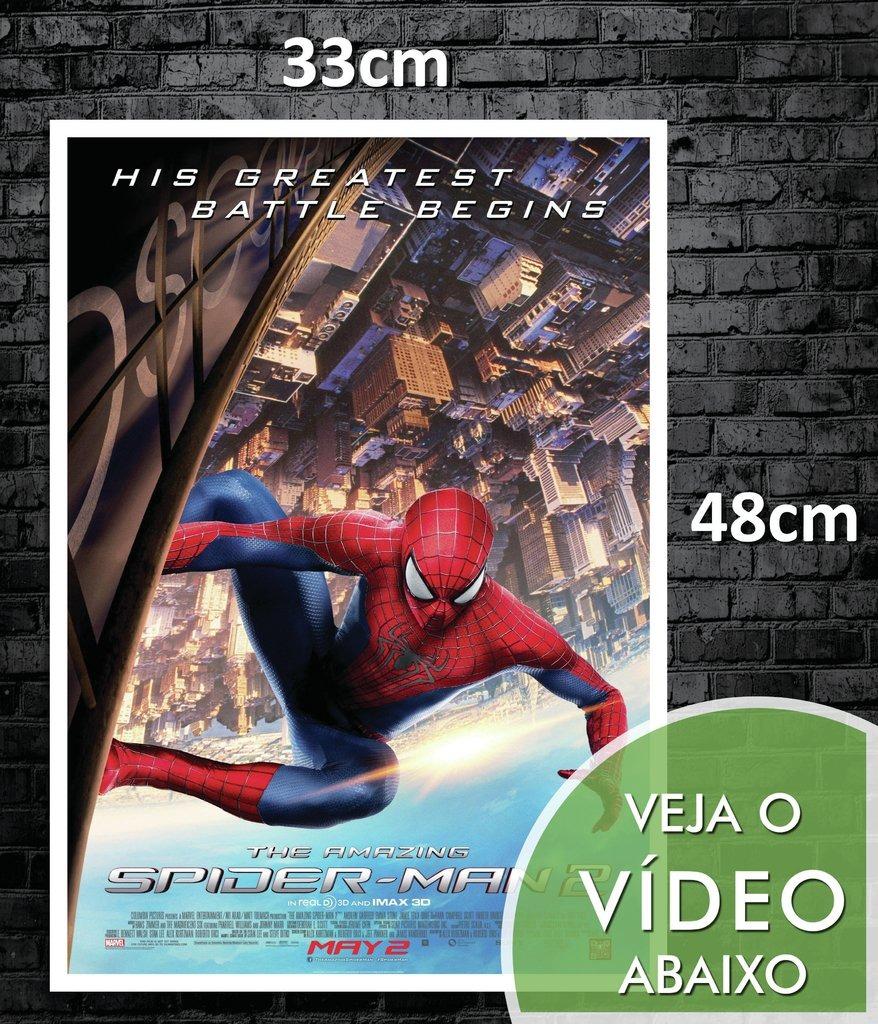 38d6b95833e Poster Cartaz O Incrivel Homem Aranha - 33x48cm Hd  0492 - R  19