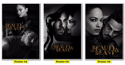 poster cartaz  tv 30x40 - beauty and the beast