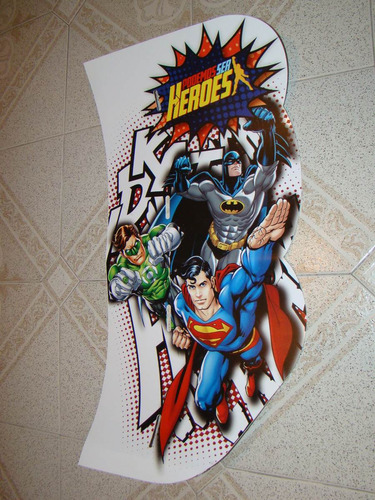 poster cartel batman superman linterna verde zona caballito