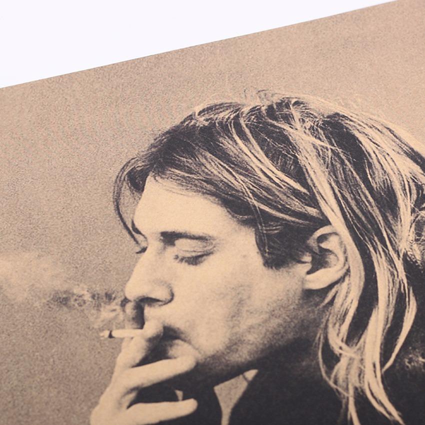 Poster Cartel Vintage Retro Kurt Cobain Nirvana 51 X 35 - $ 240.00 ...