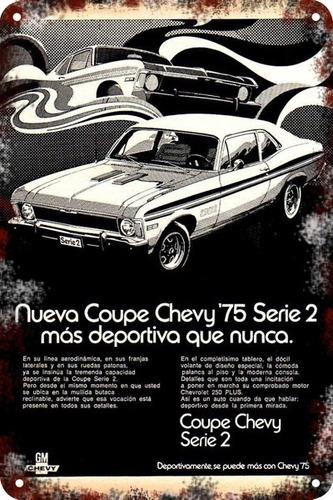 poster carteles antiguo chapa  60x40m chevrolet chevy au-145