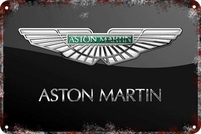 poster carteles antiguos chapa  60x40cm aston martin  au-330