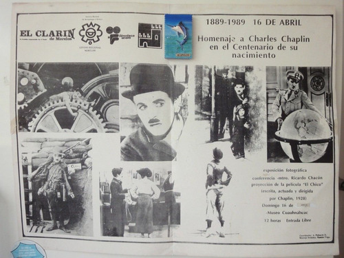 poster charles chaplin tributo por sus 100 años d nacimiento
