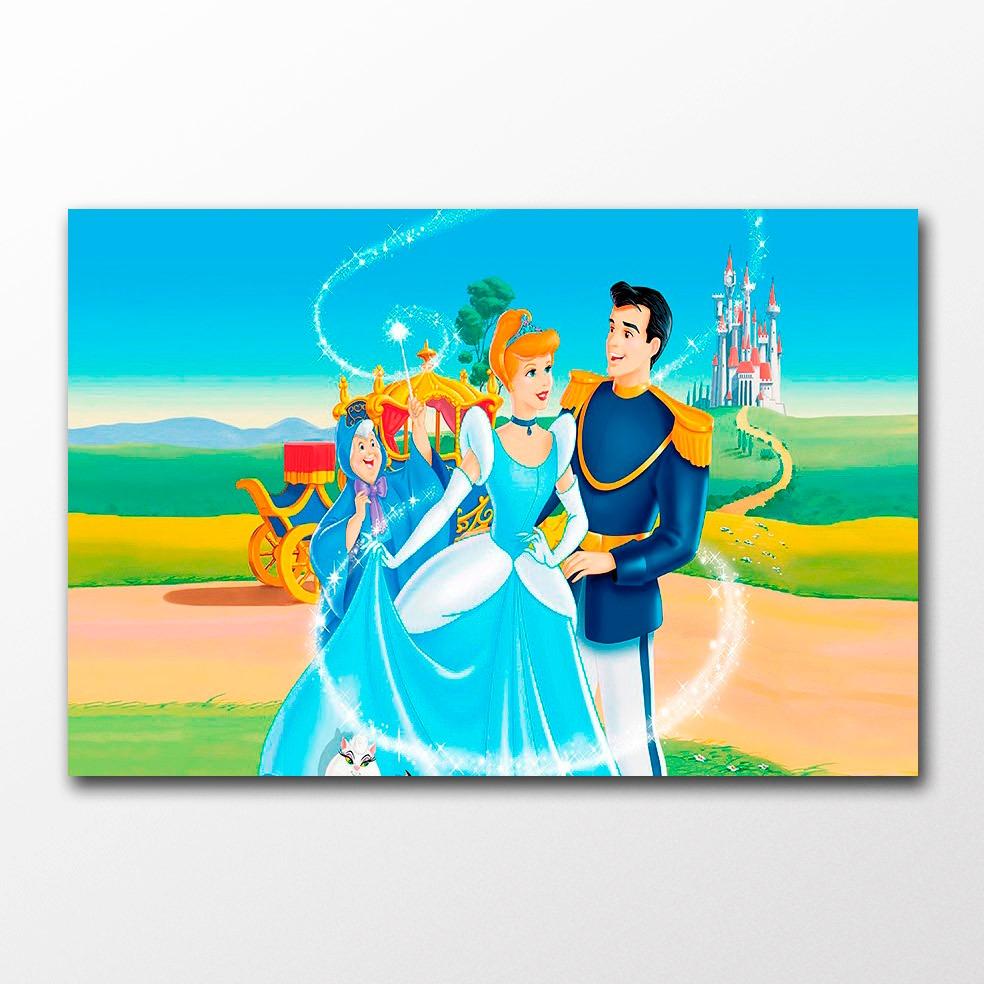 Poster Cinderela Decor Classic Disney Cine Desenho Infantil R